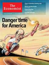 Danger time for America (Eonomist cover)