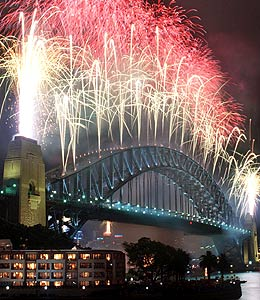 New year celebrations in Sydney