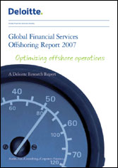 Global financial services offshoring report 2007